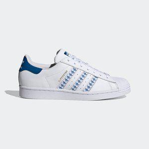 adidas Superstar White Blue Trefoil Stripes FY3494